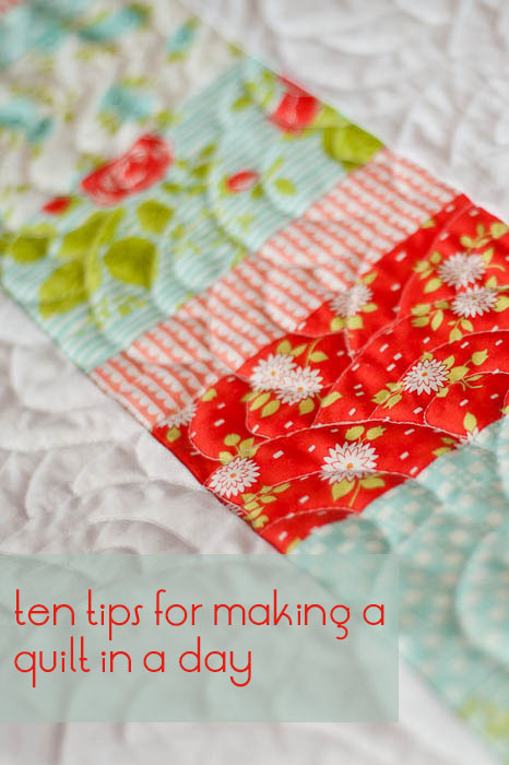 ten tips for quick quilts