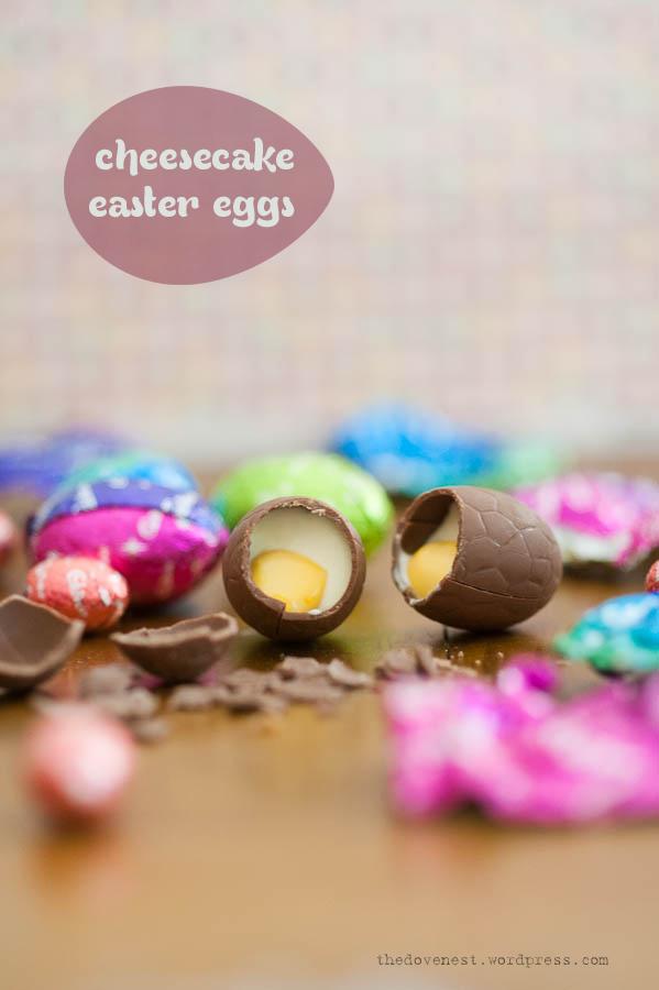cheesecake easter eggs (recipe)