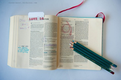 bible journalling layout