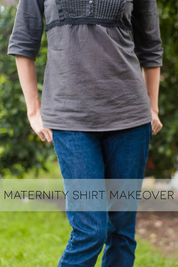 upcycled maternity shirt makeover