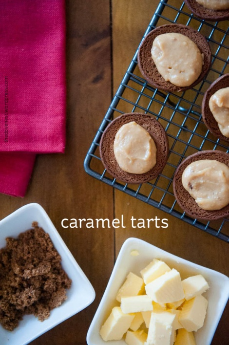 caramel tarts - recipe
